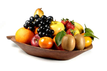 corbeille de fruits: composition de fruits Banque d'images