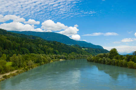 Drava river landscape Stock Photo - 8292151