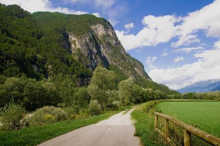 drava: Drava road cycling landscape Stock Photo