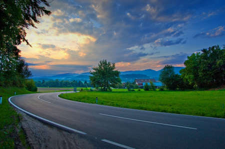 Road in the clody day Stock Photo - 8292187
