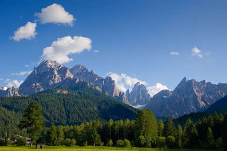 Dolomiti muntains landscape, from north Italy Stock Photo