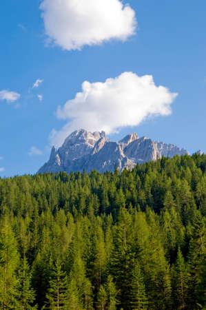 Dolomiti muntains landscape, from north Italy Stock Photo