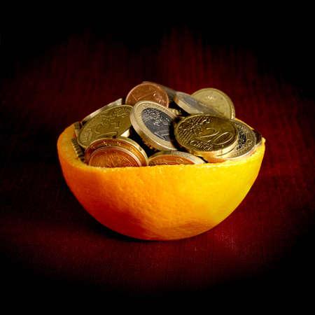 Orange and money