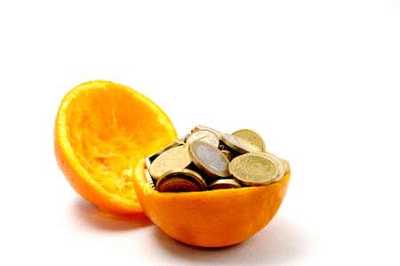 Euro and orange