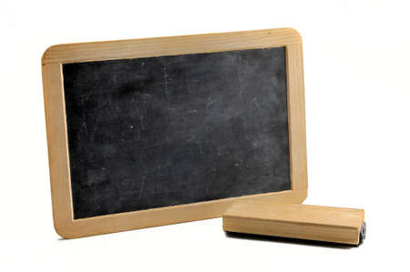 Simple horizontal blackboard on white background