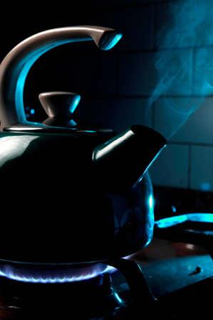 Tea on fire Stock Photo