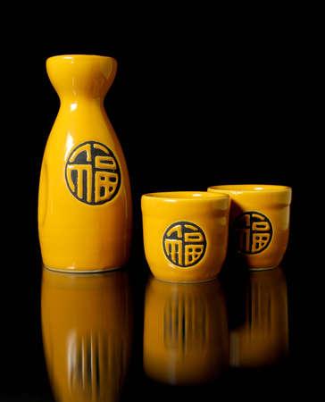 sake: Sake oriental Foto de archivo