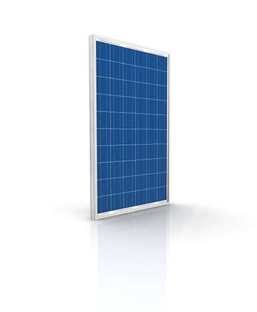 Solar panel on a white background. Green energy from the sun.