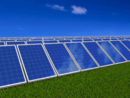 Solar panel . Green energy from sun. photo