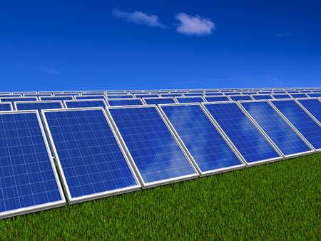 Solar panel . Green energy from sun. Stock Photo - 10226798