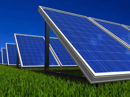 cobradores: Panel solar. Energ�a verde sol.