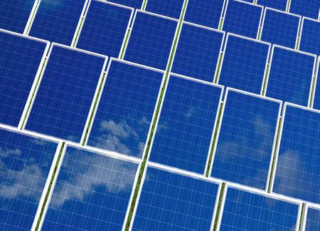 Solar panel . Green energy from sun. Stock Photo