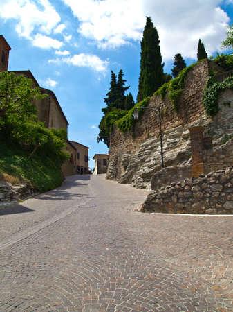 medioeval: Suggestive street of a medioeval village
