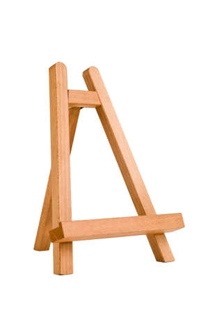 easel for artist. tripod for painting without canvas. Stock Photo