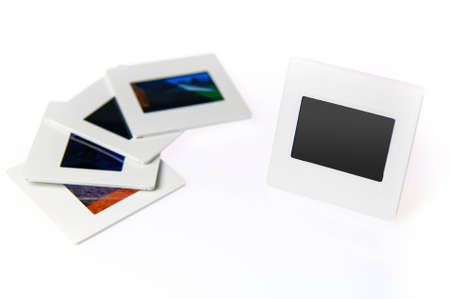 Blank slide, old photo frame Stock Photo