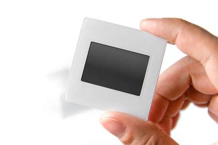 carbon neutral: Blank slide, old photo frame Stock Photo