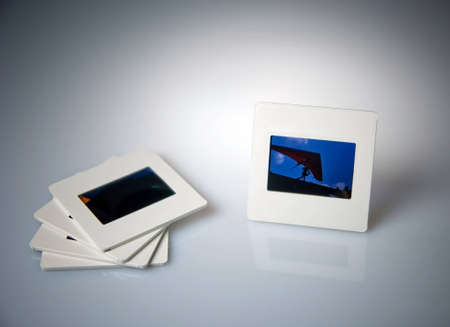 Photo memories in white slide photo