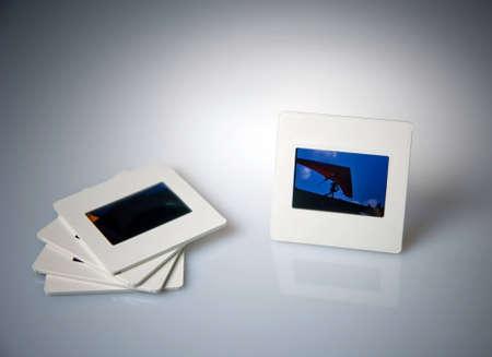 Photo memories in white slide
