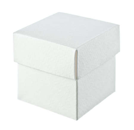 Close paper box on white background