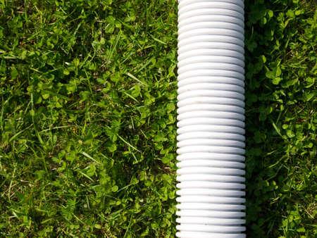 forniture: White tube for clean energy transport