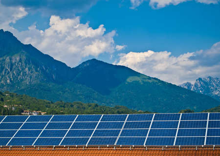 Solar panel. Green energy from sun. Stock Photo - 14487913
