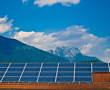 Solar panel. Green energy from sun. Stock Photo - 14487912