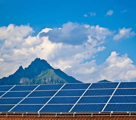 Solar panel. Green energy from sun. Stock Photo - 14487911