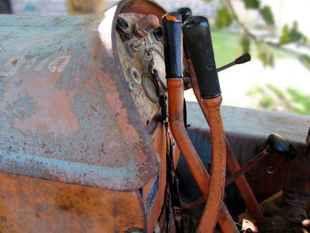 crawler: Dashboard of old italian crawler tractor Stock Photo