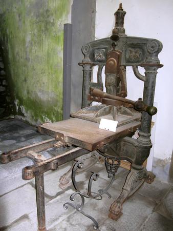 Ancient printing press of Italian Risorgimento