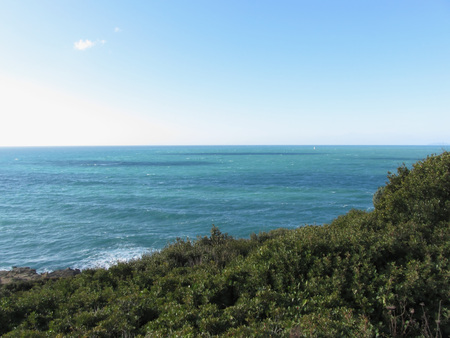 wavely: Mediterranean sea along Tuscan coastline in Livorno, Italy