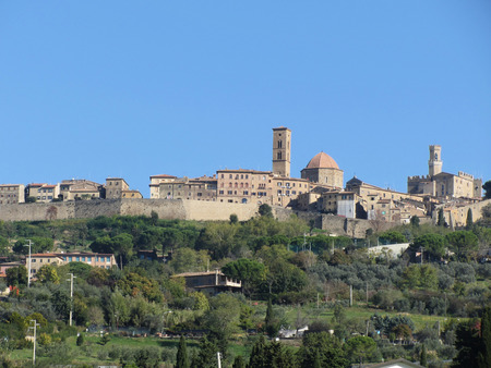 Panorama of Volterra village, province of Pisa . Tuscany, Italy Stock Photo