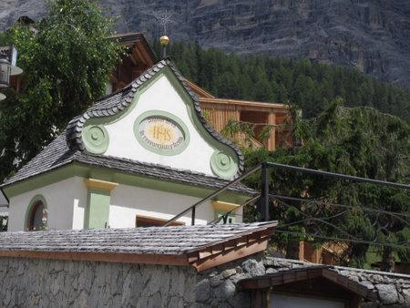 Parish church of San Cassiano . Badia, South tyrol, Italy
