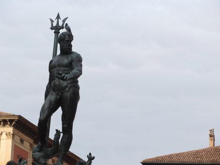 The statue of Neptune in Piazza del Nettuno next to Piazza Maggiore, Bologna Italy