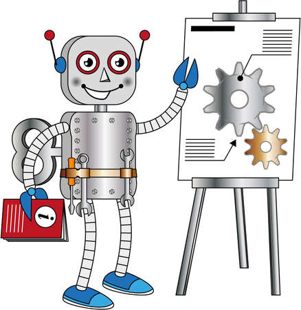 Robot that provides technical information Stock Vector - 13590838