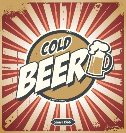 lager: Vintage beer poster