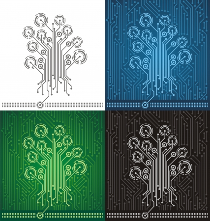 Circuit board tree background Stock Vector - 16129255