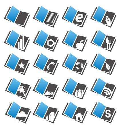 Book icons set and logo design concepts Stock Vector - 16431486