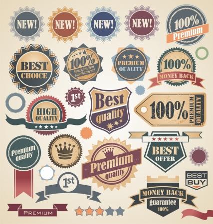 ribbon badge: Retro labels collection