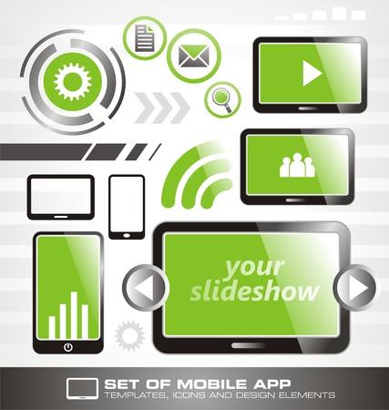 Smartphone icon set Stock Vector - 16710109