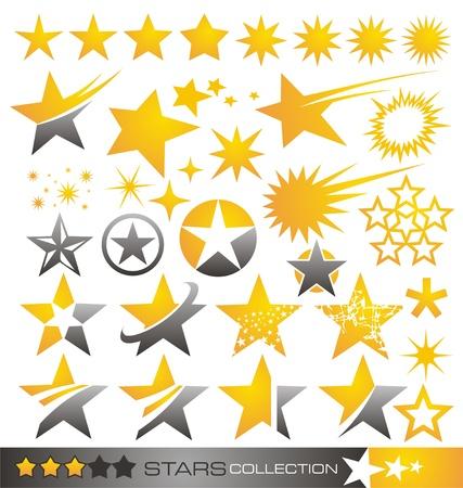 estrellas  de militares: Estrella icono y logotipo de la colección Vectores
