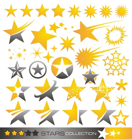 sky stars: Star icon and logo collection