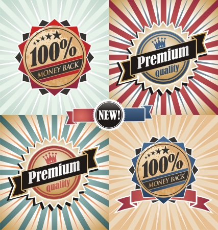 vintage backgrounds: Vintage quality and guaranteed backgrounds and labels