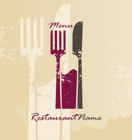 logo de comida: Men� de restaurante dise�o de la plantilla