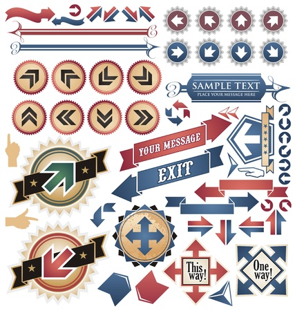 Vintage arrows - icons and symbols collection Stock Vector - 16724137