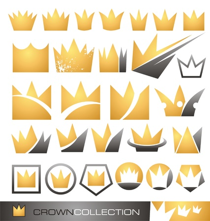 Crown symbol and icon set Stock Vector - 16724136