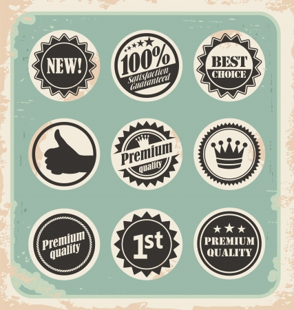 Vintage labels and badges collection Vector
