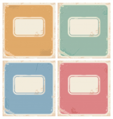 Vintage notebook covers Stock Vector - 17926065