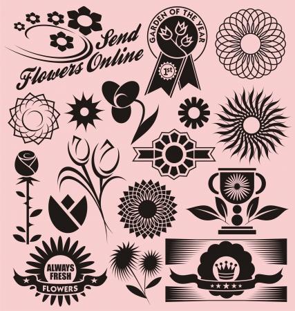 장식 벡터의 꽃 모음 스톡 콘텐츠 - 17926067