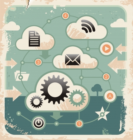Creative concept of cloud computing connections Stock Vector - 18057418