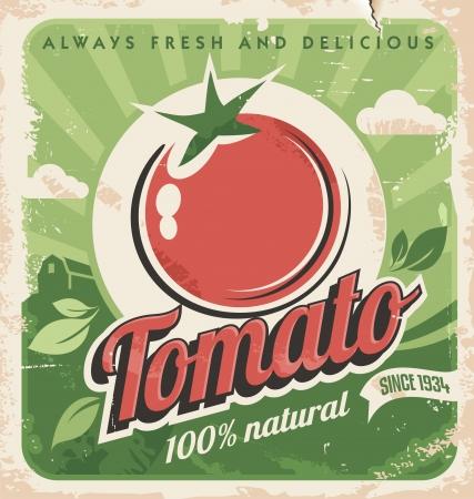 old farm: Vintage tomato poster